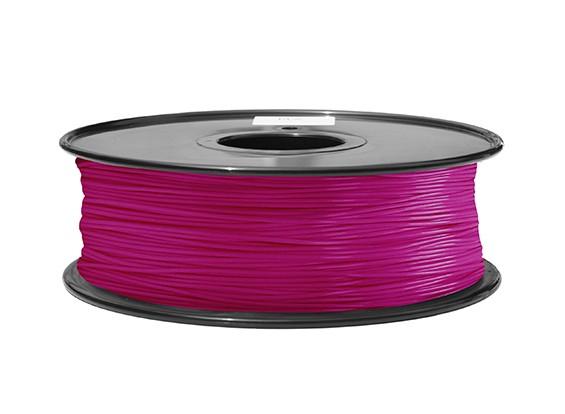 Dipartimento Funzione 3D filamento stampante 1,75 millimetri ABS 1KG spool (Viola Trasparente)