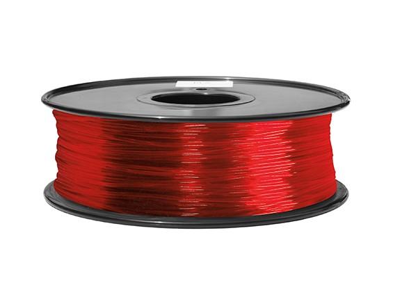 Dipartimento Funzione 3D filamento stampante 1,75 millimetri ABS 1KG spool (Transparent Red)