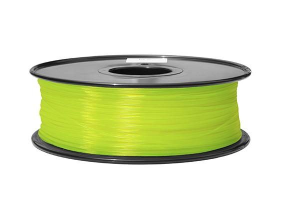 Dipartimento Funzione 3D filamento stampante 1,75 millimetri ABS 1KG spool (Fluorescent giallo)