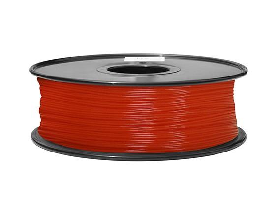 Dipartimento Funzione 3D filamento stampante 1,75 millimetri ABS 1KG spool (Fluorescent Red)