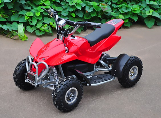 Quad bici elettrica EA0503 (spina) Red / Black Version