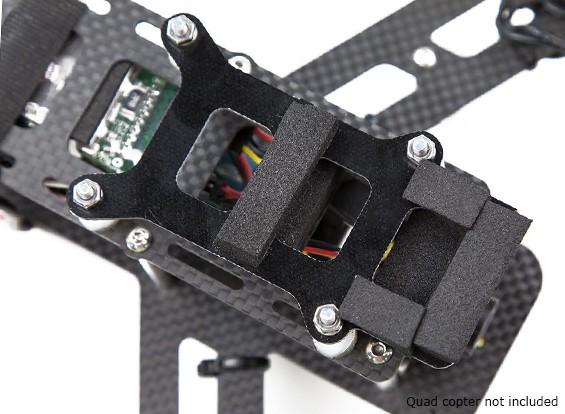 Lumenier QAV250 fibra di carbonio smorzamento delle vibrazioni della macchina fotografica del piatto