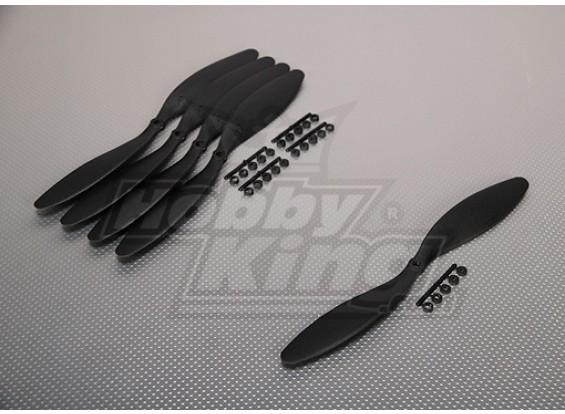 GWS Stile Slowfly dell'elica 11x4.7 Black (CCW) (5pcs)