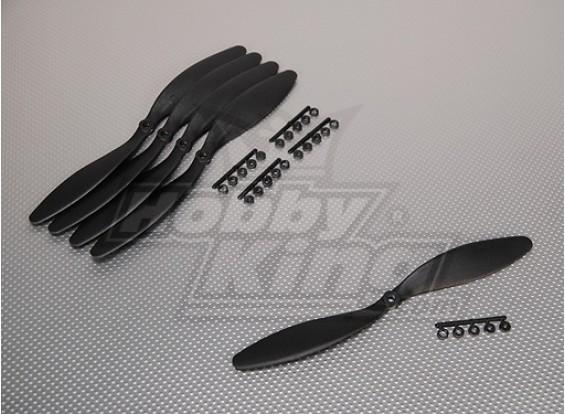 GWS Stile Slowfly dell'elica 10x4.7 Black (CCW) (5pcs)