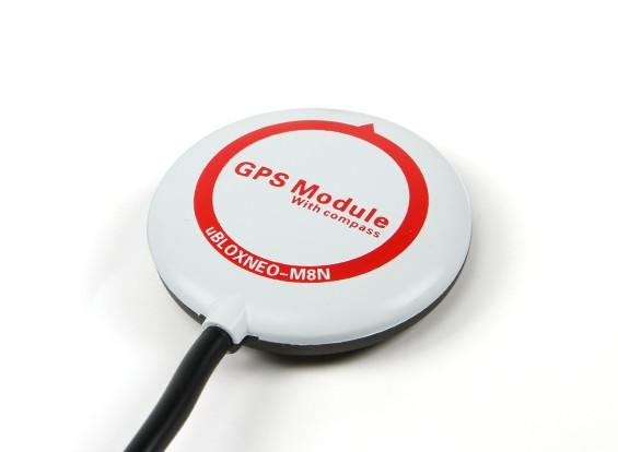 Mini Ublox NEO-M8N GPS per CC3D Revolution (Cleanflight Firmware)