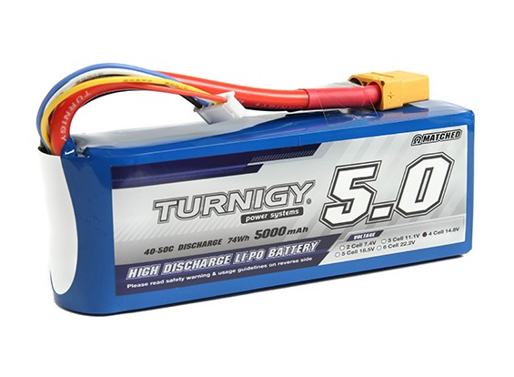 Turnigy 5000mAh 4S 40C Lipo Pack con XT90