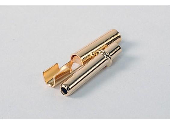 HXT 2,3 millimetri oro Connettori w / piegatura (10pair / 20pc)