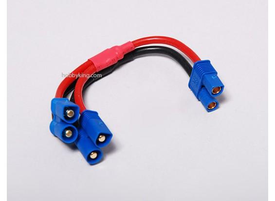EC3 batteria cablaggio 14 AWG per 2 confezioni in parallelo