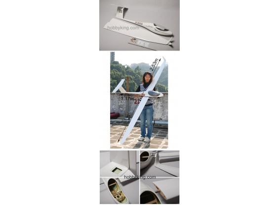 ASW28 fibra di vetro elettrico Glider 2.53m (99.6in) ARF
