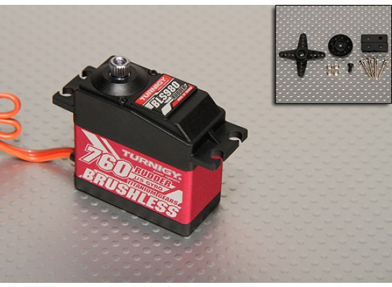 Turnigy BLS980 Digital Brushless Heli del timone servo 3.1kg / .03sec / 58g