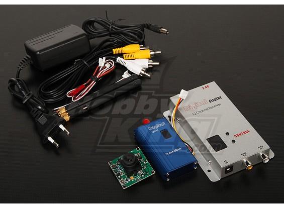 2.4GHZ 1000mW Tx / Rx & Camera CCD da 1/3-inch NTSC