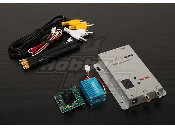 2.4GHZ 100mW Tx / Rx & Camera CCD da 1/3-inch NTSC