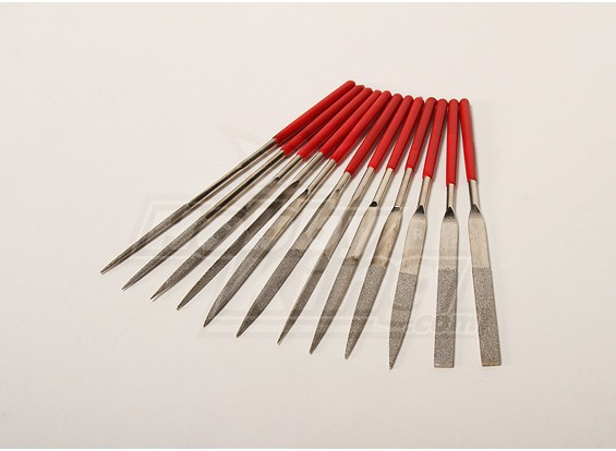 Diamante Needle Files (legno / plastica / lega)