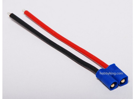 EC3 spina maschio 14AWG 10 centimetri