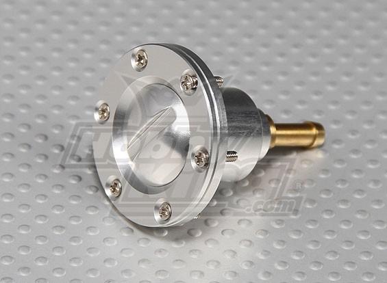 CNC Lega Fuel Filler porta per i modelli a gas / turbina a grande scala (Fuel Dot - Argento)