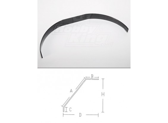 carrello di atterraggio in fibra di carbonio (formato 50cc)