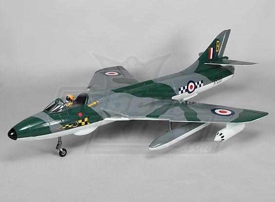Hawker Hunter 70 millimetri EDF Jet w / Retracts & Flaps RAF (ARF)