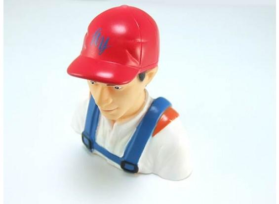 Pilot Model (pilota con il cappello) 1/6 (H78 x W73 x D36mm)