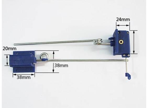 Retracts meccaniche 3,5 millimetri x 140mm lungo (coppia)