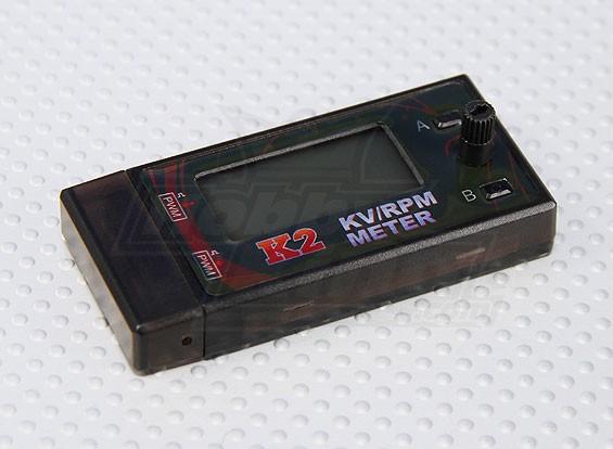 K2 kv / rpm Meter con regolazione della velocità del motore