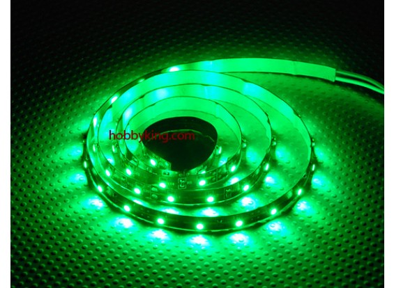 Turnigy ad alta densità di R / C LED striscia flessibile-verde (1mtr)