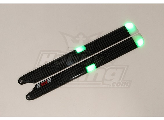 325 millimetri MS Composit 3D Night Main Blades