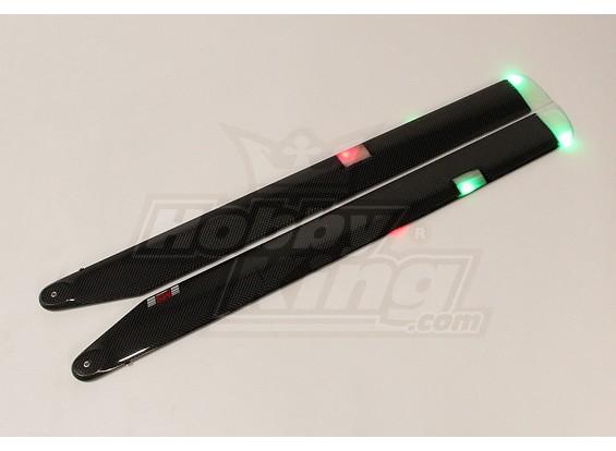 680 millimetri MS Composit 3D Night Main Blades