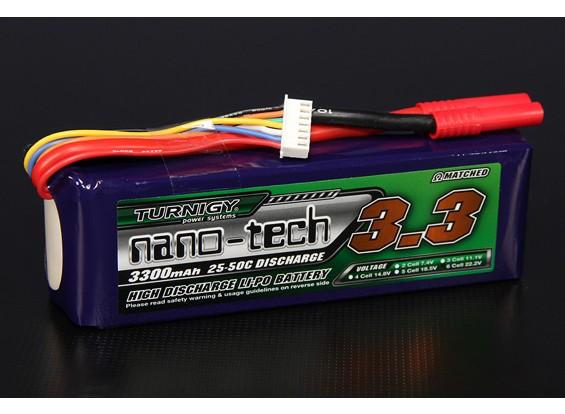 Turnigy nano-tech 3300mAh 6S 25 ~ 50C Lipo Confezione