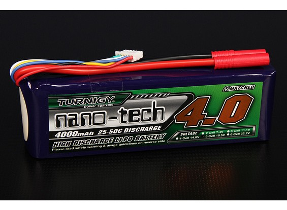 Turnigy nano-tech 4000mah 5S 25 ~ 50C Lipo Confezione