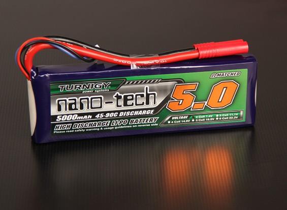 Turnigy nano-tech 5000mah 2S 45 ~ 90C Lipo Confezione