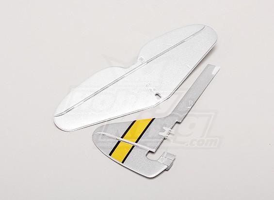 P-47 Ultra Micro - Sostituzione coda verticale e della coda Horizonal