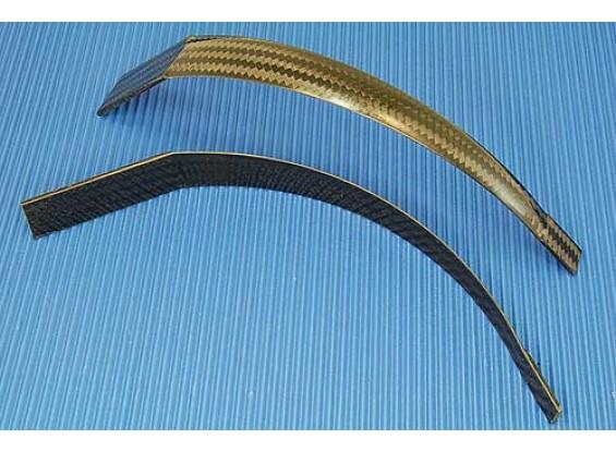 Fibra di carbonio carrello di atterraggio 130 millimetri