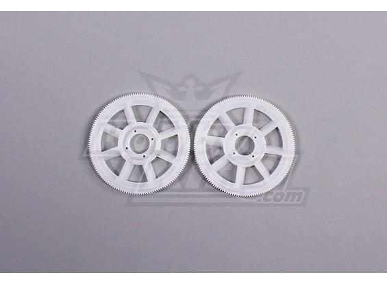 Tarocchi 450 PRO Main Gear Set (2 pezzi) - Bianco (TL1219-01)