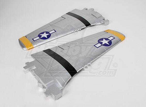 P-51D 1200 millimetri Wing-set