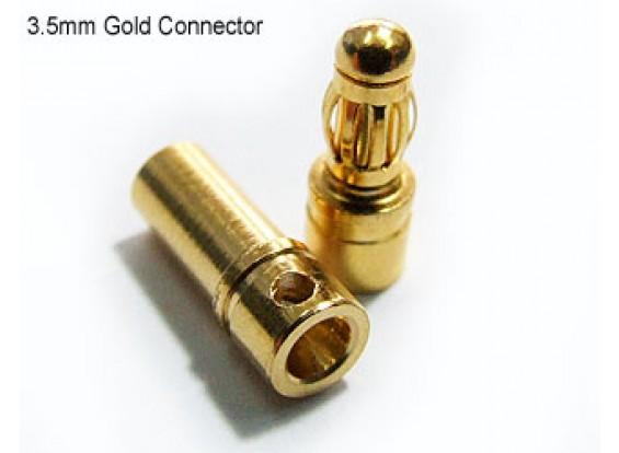 Polymax oro da 3,5 mm Connettori 10 coppie (20PC)