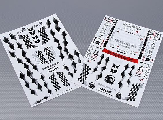 Auto Sticker Foglio Adesivo - Prodrive 1/10 Scale (2pc)