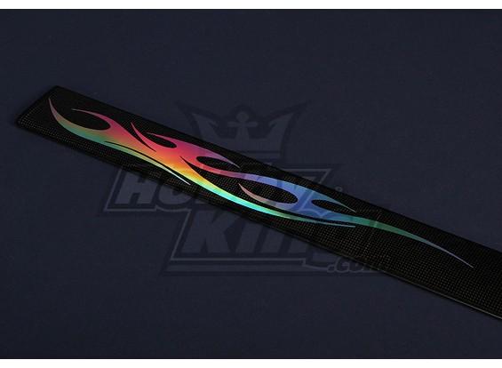 Ultrasottile prismatico pre-tagliati Sticker 490x53mm (4 coppie)