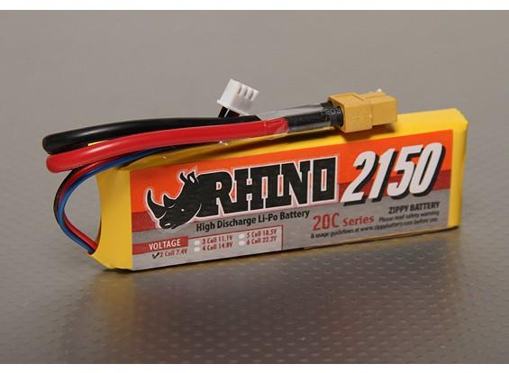 Rhino 2150mAh 2S1P 20C Lipoly Confezione