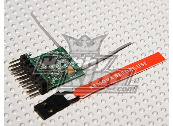 DSM2 Compatibile Parkflyer 2.4Ghz Receiver (V2.0)
