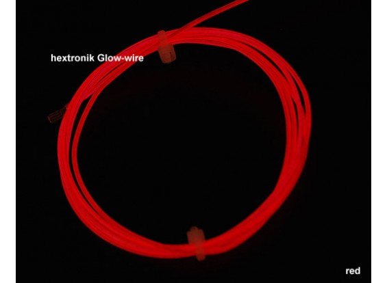 hexTronik Lumifly Glow Wire RED 1.2mtr