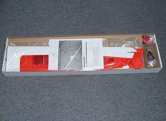 SCRATCH / DENT Dragonfly 1800 EP Composite Aliante w / 1.800 millimetri motore (ARF)