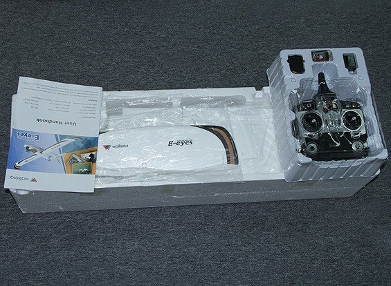 SCRATCH / DENT Walkera E-Eyes FPV dell'aeroplano w / DEVO F7 trasmettitore (RTF)