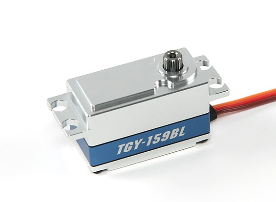 SCRATCH / DENT - Turnigy TGY-159BL digitale metallo Cased coppia elevata a basso profilo Brushless auto Servo 55g