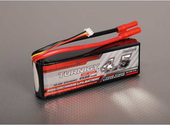 Turnigy 4500mAh 2S2P 30C LiFePo4 pack