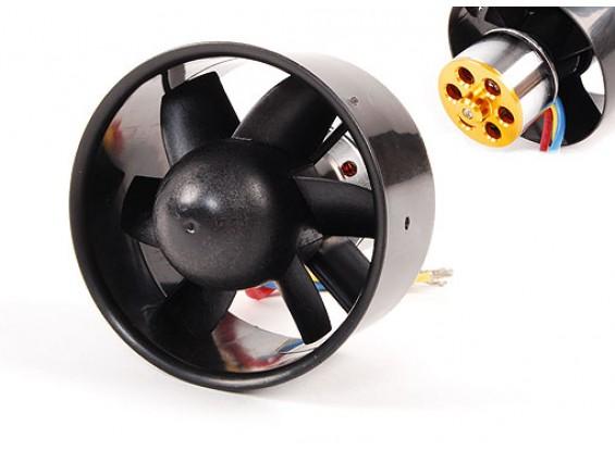 EDF Fan Unità 74 millimetri / 2570kv / 860g di spinta w / Motore