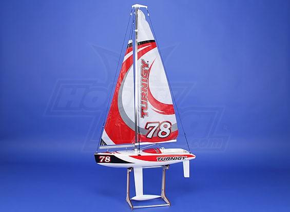 Turnigy 610 millimetri in fibra di vetro che corre yacht a vela ARTR