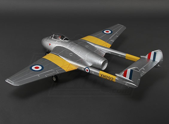 Durafly ™ DH100 Vampire Mk6 EDF Jet w / ritrae 1.100 millimetri (PNF)