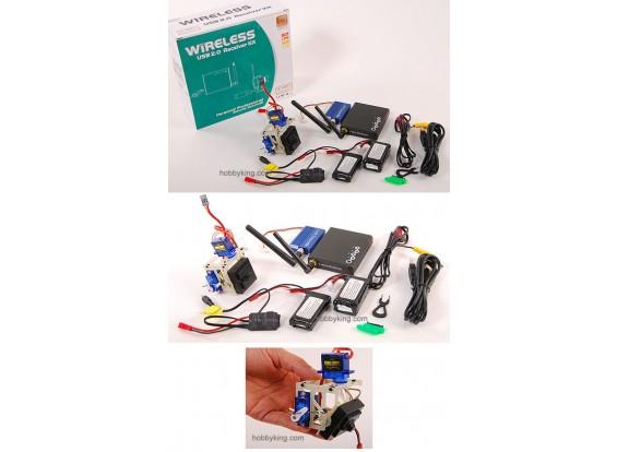 Video Kit Wireless w / sistema Pan-Tilt