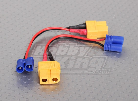 XT60 per EC2 Losi ricarica adattatore (2pcs / bag)