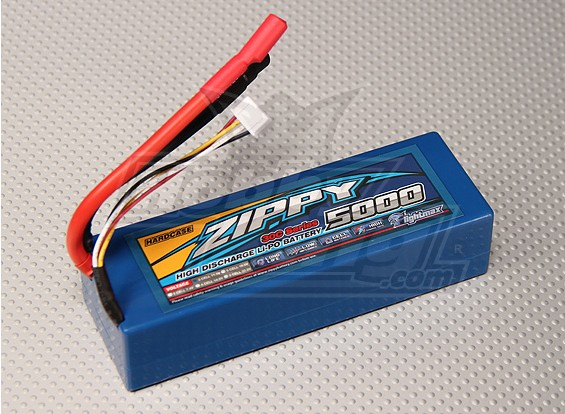 pacchetto ZIPPY 5000mAh 3S1P 30C Hardcase